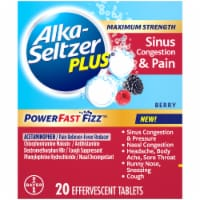 Alka-Seltzer Plus® Berry Max Strength Sinus Congestion & Pain - 20 ct