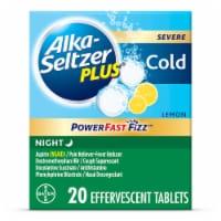 Alka-Seltzer Plus Lemon Flavor Night Aspirin Effervescent Tablets - 20 ct
