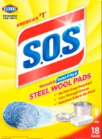 S.O.S. Soap-Filled Steel Wool Pads - Blue