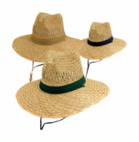 Dorfman Pacific Wide Brim Hat Natural Assorted - Case Of: 12; - Case of: 12