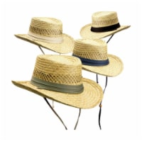 Dorfman Pacific Unisex Hat Natural Assorted - Case Of: 12; - Case of: 12