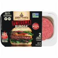 Sweet Earth Awesome Burger Patties Plant Based Protein - 2 ct / 8 oz