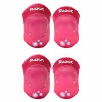 Razor 96783 Child Youth Kids Bike Elbow & Knee Pad Safety Set, Sweet Pea Pink - 1 Unit