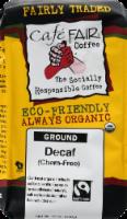 Cafe Fair Chemical Free Decaf Ground Coffee - 12 oz
