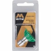 Mi-T-M 3.0mm 25 Degree Green Pressure Washer Spray Tip AW-0018-0303 - 3.0mm