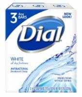 Dial White Antibacterial Deodorant Soap Bars