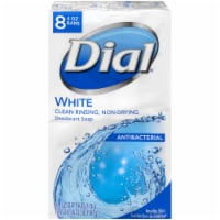 Dial White Antibacterial Deodorant Soap Bars
