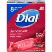 Dial Antioxidant Vitamin Infused Power Berries Glycerin Soap Bars