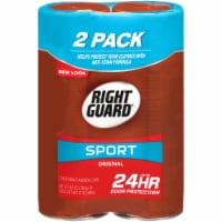 Right Guard Sport Original Deodorant Aerosol Cans Twin Pack