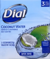 Dial Coconut Water Gentle Cleansing Glycerin Soap Bars 3 Count