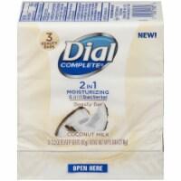Dial Complete 2-in-1 Moisturizing & Antibacterial Coconut Milk Beauty Bar Soap