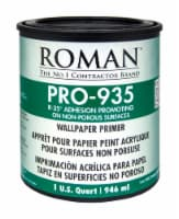 Roman  R-35  Clear  Water-Based  Acrylic  Wallcovering Primer  1 qt. - Case Of: 6; - Case of: 6