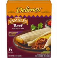 Delimex Beef Tamales Frozen Appetizer 6 Count