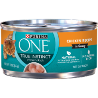 Purina ONE Natural High Protein True Instinct Chicken Recipe Gravy Wet Cat Food
