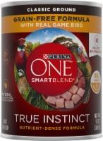 Purina ONE SmartBlend True Instinct Grain-Free Formula Real Gamebird Classic Ground Wet Dog Food