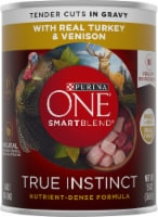 Purina ONE SmartBlend True Instinct Real Turkey & Venison in Gravy Adult Wet Dog Food