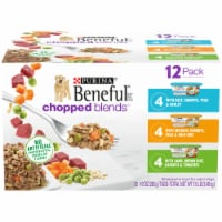 Beneful Chopped Blends Wet Dog Food Variety Pack 12 Count