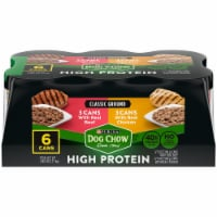 Dog Chow High Protein with Real Classic Ground Beef & Chicken Wet Dog Food (6 Pack)