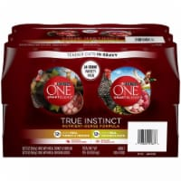 Purina One Natural Gravy Wet Dog Food Variety Pack, 13 Ounce Cans (Pack of 24) - 1 unit