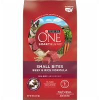 Purina ONE SmartBlend Small Bites Beef & Rice Formula Dry Dog Food