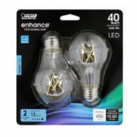 Feit Electric Enhance A19 E26 (Medium) Filament LED Bulb Daylight 40 Watt Equivalence 2 pk - - Count of: 1
