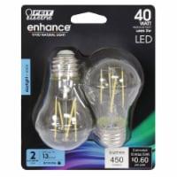 Feit Electric Enhance A15 E26 (Medium) Filament LED Bulb Daylight 40 Watt Equivalence 2 pk - - Count of: 1