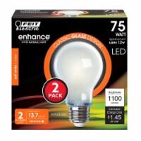 Feit Electric A19 E26 (Medium) Filament LED Bulb Soft White 75 watt Watt Equivalence 2 pk - - Count of: 1