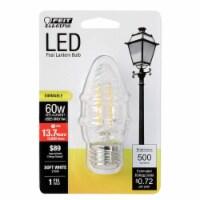 Feit Electric F15 E26 (Medium) Filament LED Bulb Soft White 60 Watt Equivalence 1 pk - Case - Count of: 1