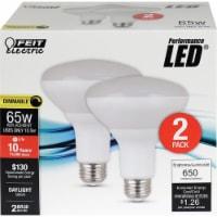 Feit Electric Performance LED® 10.5-Watt (65-Watt) BR30 Dimmable Light Bulbs - 2 pk