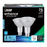 Feit Electric Enhance PAR30 E26 (Medium) LED Bulb Daylight 75 Watt Equivalence 2 pk - Case - Case of: 4