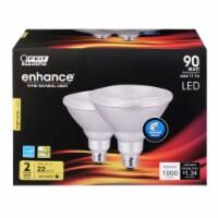 Feit Electric Enhance PAR38 E26 (Medium) LED Bulb Bright White 90 Watt Equivalence 2 pk - - Count of: 1