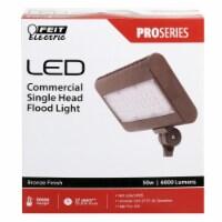 Feit Electric  Hardwired  LED  Bronze  Floodlight