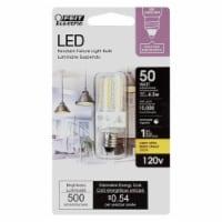 Feit Electric Mini Candelabra E11 LED Bulb Warm White 50 Watt Equivalence 1 pk - Case Of: 1; - Count of: 1