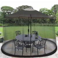 Jobar JB6614 Ideaworks 11 ft. Outdoor Umbrella Table Screen - Black