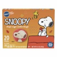 Pillsbury Ready to Bake Snoopy Shape Sugar Cookie Dough - 20 ct / 9.1 oz