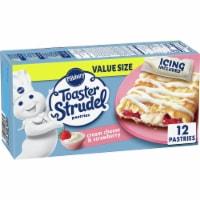 Pillsbury Cream Cheese & Strawberry Toaster Strudel Frozen Breakfast Pastries Value Pack