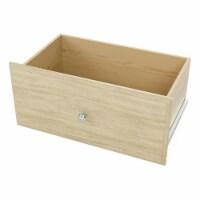 Easy Track Deluxe 12 Inch Tall Wood Closet Shelf Storage Drawer, Honey Blonde - 1 Piece
