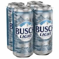 Busch Light Lager Beer - 4 cans / 16 fl oz