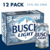 Busch Light Lager Beer - 12 cans / 12 fl oz