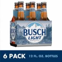 Busch Light Lager Beer - 6 bottles / 12 fl oz