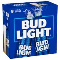 Bud Light Beer Reclosable Aluminum Bottles