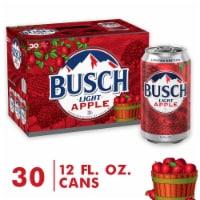 Busch Light Apple Beer - 30 cans / 12 fl oz