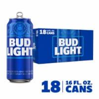 Bud Light Beer - 18 cans / 16 fl oz