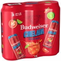Budweiser & Clamato Chelada - 3 cans / 25 fl oz