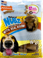 Nylabone Edibles Natural Nubz Wild Bison Flavor Small Chew Dog Treats