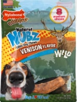 Nylabone Edibles Natural Nubz Venison Flavor Edible Dog Chews