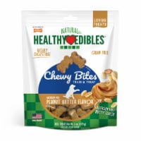 Nylabone Healthy Edibles Peanut Butter Flavor Chewy Bites Dog Treats - 6 oz