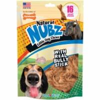 Nylabone Natural Nubz Bully Stick Grain Free Dog Treat Chew (16-Pack) - 16-Pack