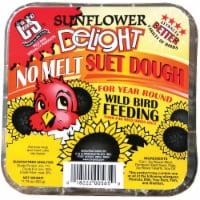 C&S Products Sunflower Delight Assorted Species Wild Bird Food Beef Suet 11.75 oz. - Case Of: - Case of: 12