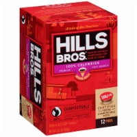 Hills Bros. 100% Colombian Medium Roast Coffee Single Serve Pods - 12 ct